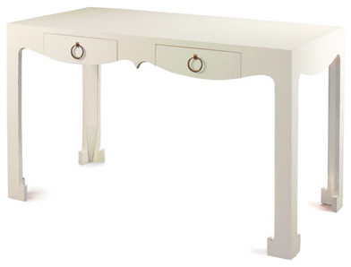 Bungalow 5 Jacqui Console/Desk, White contemporary desks