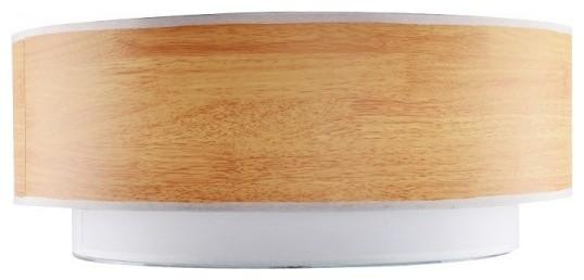 Textured Linen Wood Veneer Drum Shape Flush Mount modern-ceiling-lighting