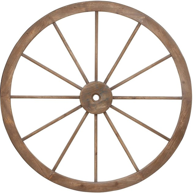Metal Wagon Wheel with Intricate Detailed Work
