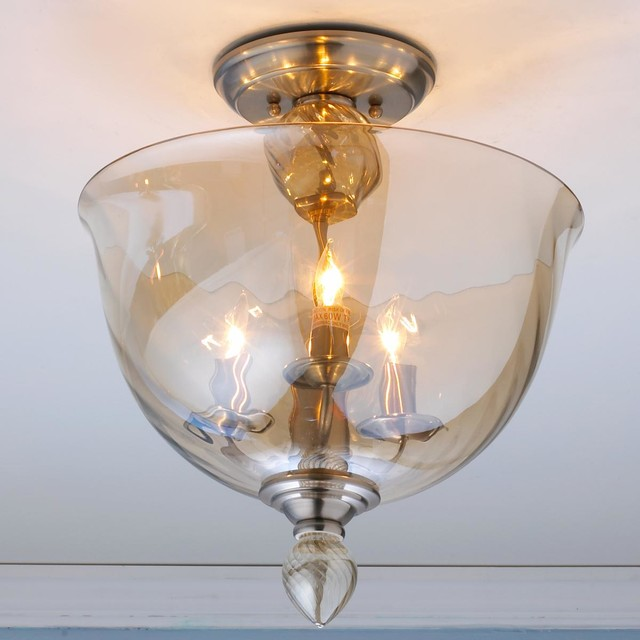 Ceiling Lights Glass Shades : Modern murano glass bowl semi flush ceiling light mount lighting by shades of