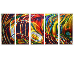 Metal Wall Art Abstract Modern Sculpture Melted Colors contemporary-artwork
