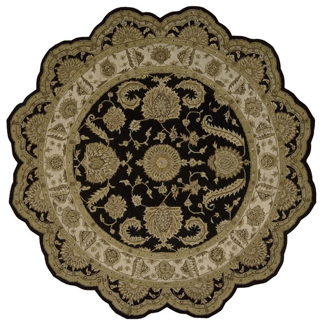 Heritage Hall HE19 8' Free Form Black Rug traditional-rugs