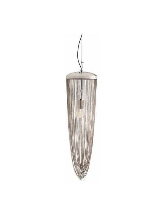 Arteriors Worth Polished Nickel Chain Pendant - Worth Polished Nickel Chain Pendant