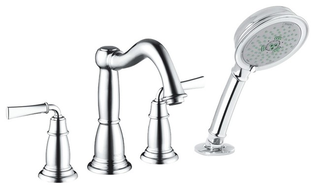 Hansgrohe-04272620 Tango C 4-Hole Roman Tub Set with Classic Lever Handles in Oi traditional-bathroom-faucets-and-showerheads