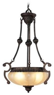 Livex Aladdin 8507-47 Chandelier - Rustic Copper - 165W in. modern-chandeliers