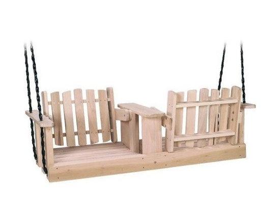Beecham Swing Co. Flip-Ware Wood Porch Swing -