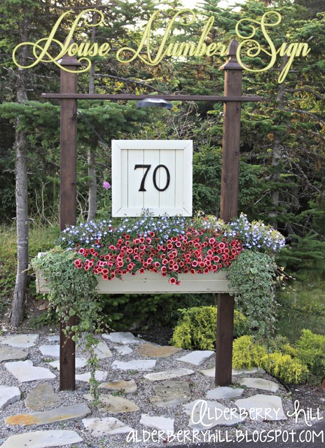 Diy house number sign traditional outdoor products - House number signs for yard ...