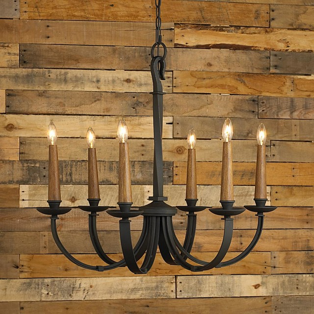 Modernized Rustic Iron Chandelier - Small - Chandeliers - by Shades of Light