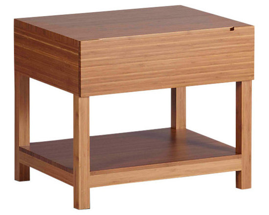 Greenington - Orchid Nightstand - Simple and charming, this sturdy little stand is the perfect bedside companion. With plenty of storage and clean lines to spare, it makes practical undeniably pretty.