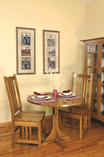 Mission style white oak breakfast room furniture craftsman dining room cleveland by - Mission style dining room furniture ...