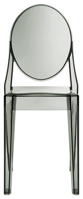 Philippe Starck Style Ghost Side Chair Smoked Clear contemporary-dining-chairs