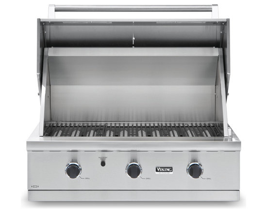 "Viking 36"" Built-in Gas Grill, Stainless Steel Natural Gas 
