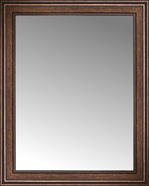34 x 42 arqadia bronze traditional custom framed mirror for Custom framed mirrors
