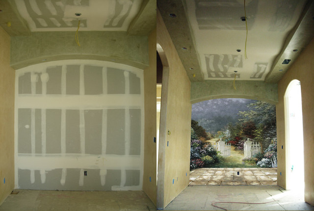 Murals, Stencil, Ceiling Designs traditional