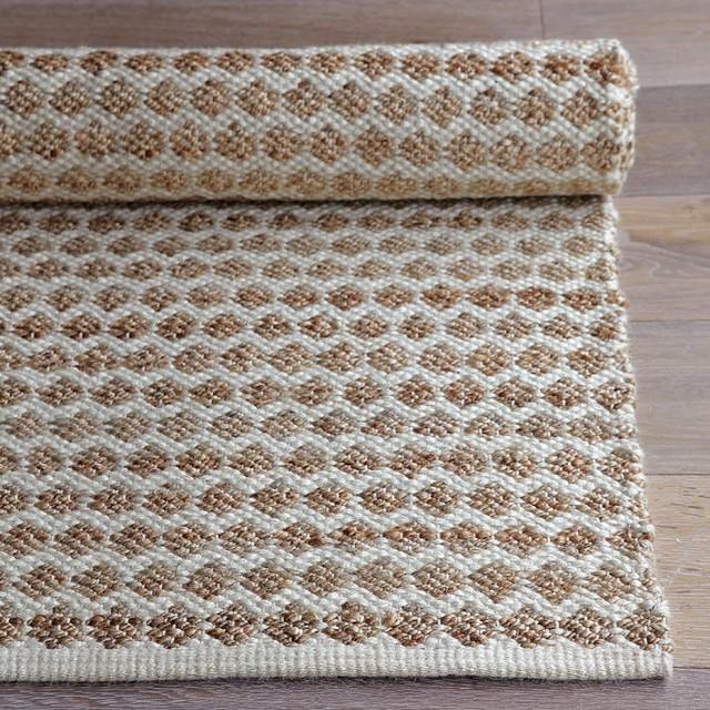 Jute Dot Rug modern-rugs