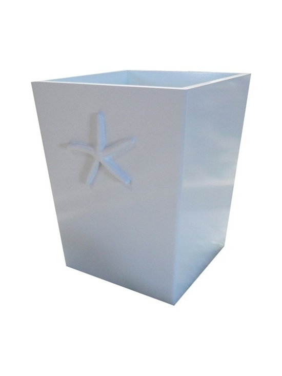 Charn&Co. - Bella starfish wastebasket - Bella starfish wastebasket is the perfect accent item for you cottage and shabby chic dcor look