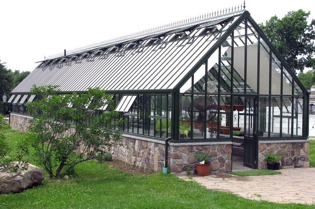 Large Victorian Glasshouse Large Victorian Glasshouses Traditional Greenhouses Boston