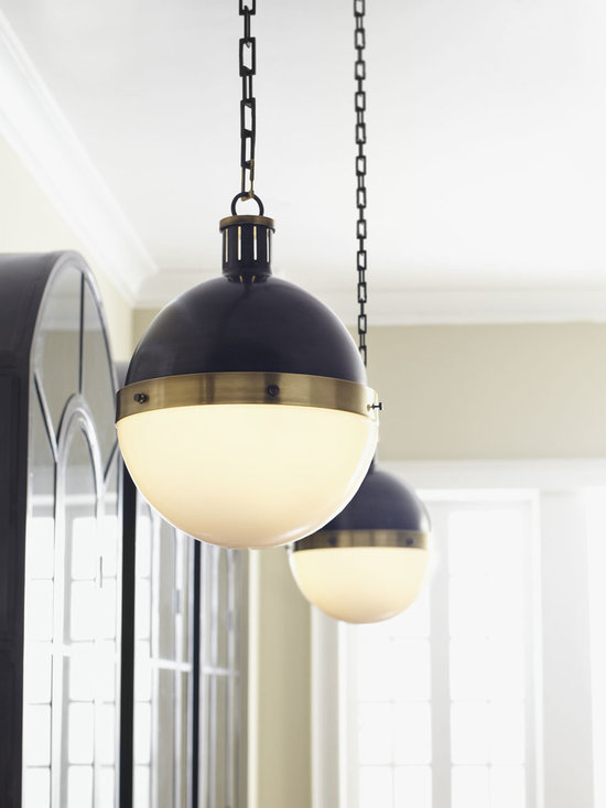 Lighting - Design that never goes out of style, this globe pendant light is a perfect balance of antiqued metal and glass. The decorated square-link hanging chain adds a nice finishing touch. Available in three sizes, this pendant works well in the kitchen, the bath, the entryway—just about anywhere.