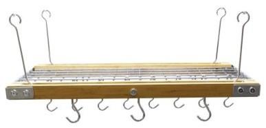 Bamboo Accent Pot Rack modern-pot-racks-and-accessories