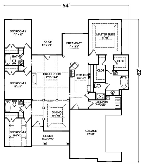 House plan 120a traditional floor plan atlanta by Atlanta home plans