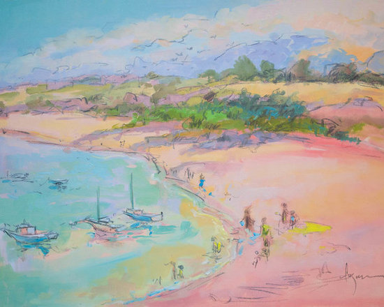 Artwork for Beach House, Turquoise & Coral Pink -