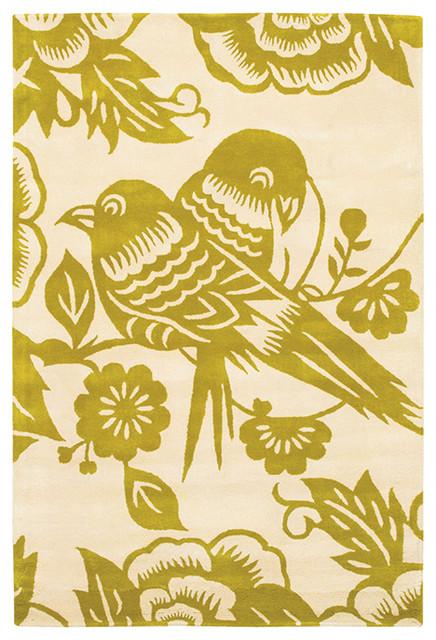 Love Birds Wool Pile Rug - Corn/Cream - Thomas Paul modern-table-lamps