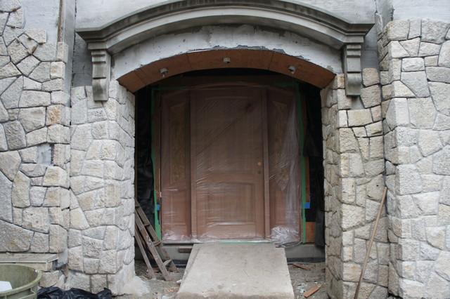 Arch Top Mahogany sidelite door sidelite unit contemporary