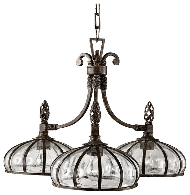 Uttermost Galeana 3 Light Chandelier Traditional