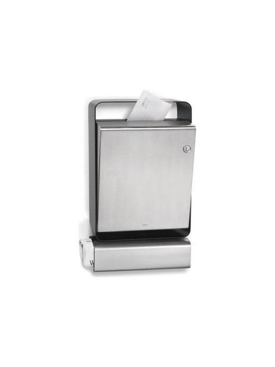 Casa Stainless Steel Mailbox With Newspaper Holder -