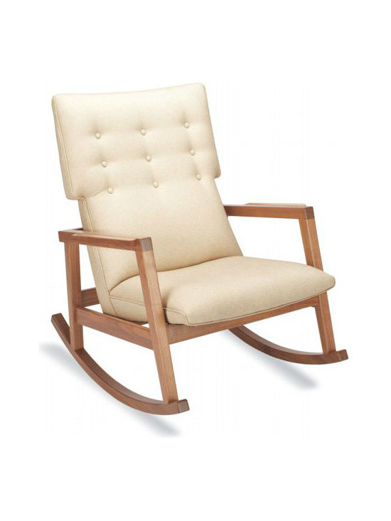 Risom Rocker, Lychee - I've been coveting this rocker for years but unfortunately it's a bit out of my price range. It's the perfect transition piece for baby's room and then into the family room when the baby gets older. This is a truly timeless design.