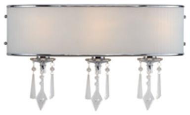 Golden Lighting 8981-BA3-BRI Echelon 3 Light Bathroom Vanity Light, Chrome traditional-bathroom-vanity-lighting