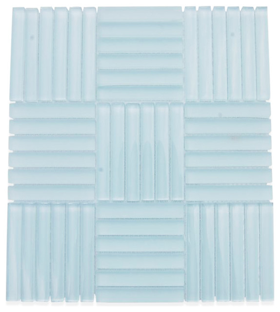 Loft Careen Seafoam Green Glass Tile contemporary-tile