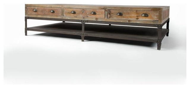 Campbell Coffee Table Farmhouse Coffee Tables By
