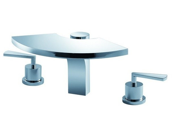 Kraus Fantasia Three-Hole Basin Faucet Chrome KEF-14803CH - `