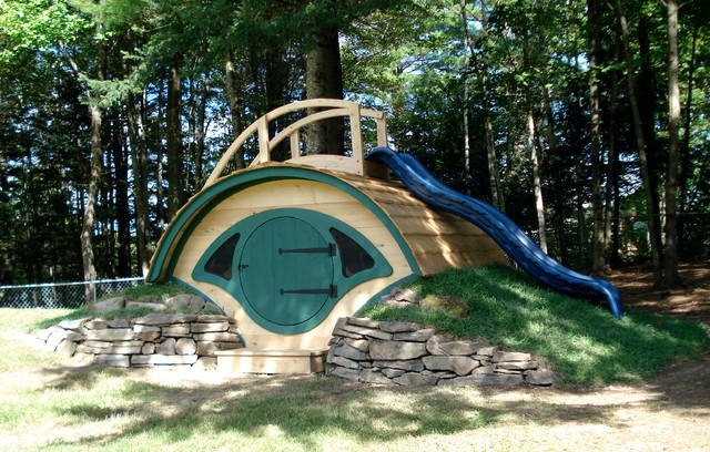 "Woodshire"" Hobbit Hole Playhouse - Outdoor Playhouses - other metro ..."