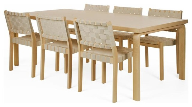 Artek Table, Birch Veneer modern-dining-sets