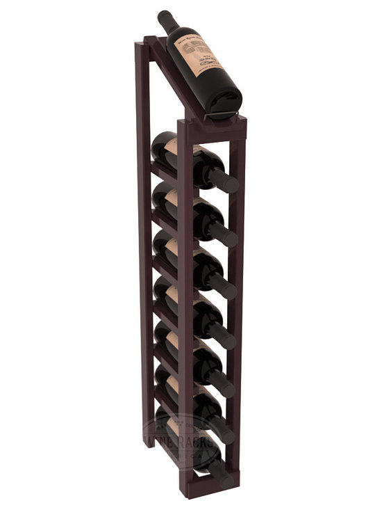 Wine Racks America - 1 Column 8 Row Display Top Kit in Redwood, Burgundy Stain + Satin Finish - Make your best vintage the focal point of your cellar or store. The slim design is a perfect fit for almost any space. Our wine cellar kits are constructed to industry-leading standards. You'll be satisfied. We guarantee it. Display top wine racks are perfect for commercial or residential environments.
