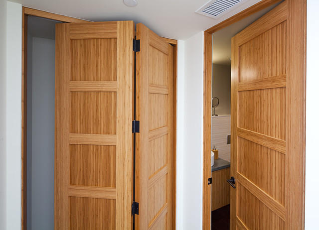 Bamboo bifold and passage doors contemporary interior for Interior passage doors