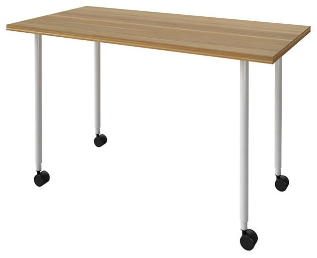 Turnstone Table with Casters - Modern - Desks And Hutches - by SmartFurniture