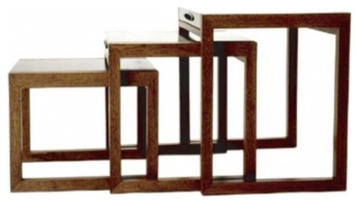 Ninho Nesting Tables by Claudia Moreira Salles contemporary-side-tables-and-end-tables