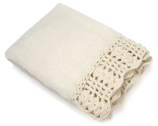 Belle & June - Snow Mohair with Crochet Edge - You've got a soft spot for uncomplicated elegance — no wonder you're drawn to this mohair throw. From its dreamy ivory hue to its delicate crochet edging, it's an ideal accent piece for your decor. So toss it anywhere to snuggle in style.