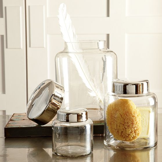 Bathroom Apothecary Jars : Apothecary jars contemporary bathroom accessories by