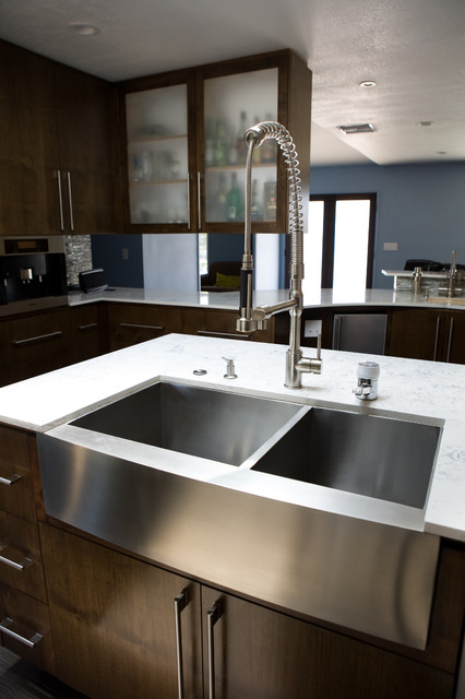 Stainless Steel Farmhouse Sink modern-kitchen-sinks