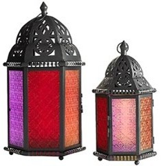 Moroccan Lanterns  candles and candle holders
