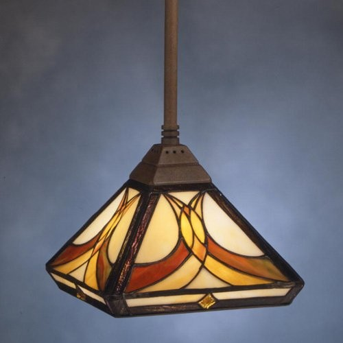 Kichler Art Glass Creations Mini Pendant Light - 13.75L in. Bronze traditional-pendant-lighting