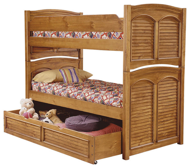 American woodcrafters cottage traditions twin over full for American woodcrafters bedroom furniture