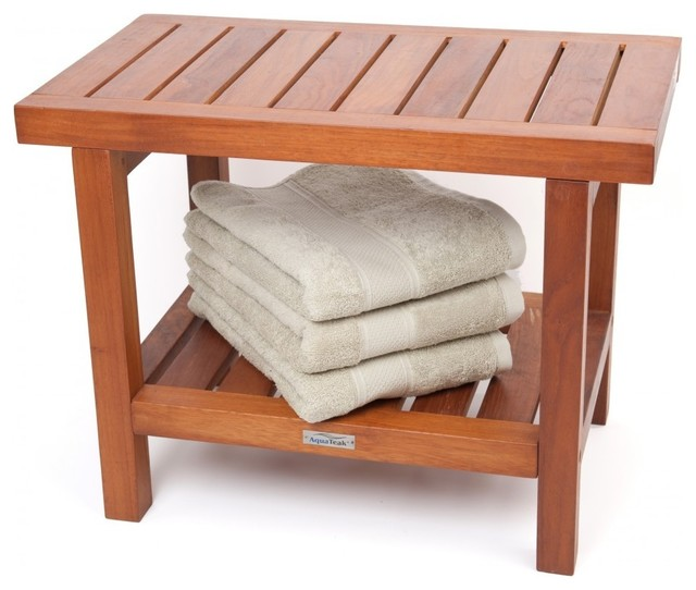 24 Teak Shower Bench From The Spa Collection