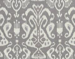 Purple Ikat Fabric by the Yard Ikat Upholstery by PopDecorFabrics