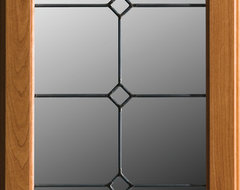 Dura Supreme Cabinetry LG-40 Leaded Glass Cabinet Door. eclectic-kitchen-cabinetry