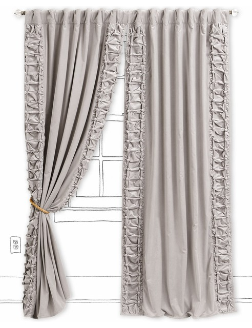 Parlor Curtain, Light Gray contemporary-curtains